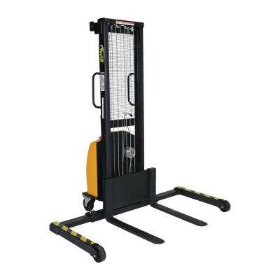 770 lb. Capacity 2 to 59 in. High Electric Winch Stacker