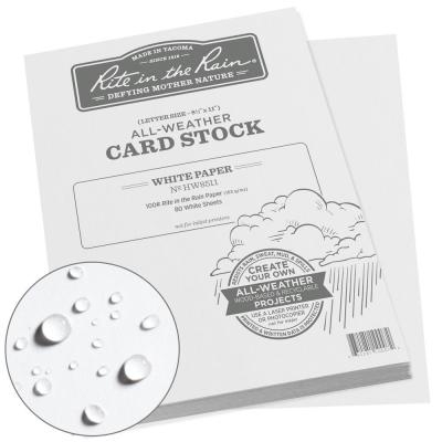 All-Weather 8.5 in. x 11 in. 100 lbs. Card Stock, White (80-Sheet Pack)