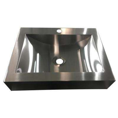 Hardy 16.5 in. Undermount Bathroom Sink in Stainless Steel