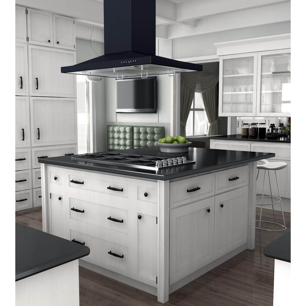 Zline Kitchen And Bath Zline 36 In Designer Series Oil Rubbed Bronze Island Mount Range Hood 8gl2bi 36 8gl2bi 36 The Home Depot