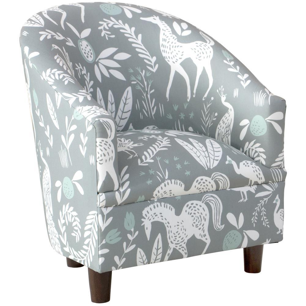 Hatfield Fauna Grey Ground Mint Kid's Tub Chair