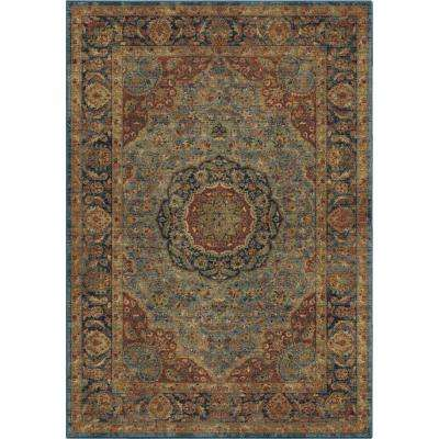 Monroe Traditional Blue 8 ft. x 11 ft. Area Rug