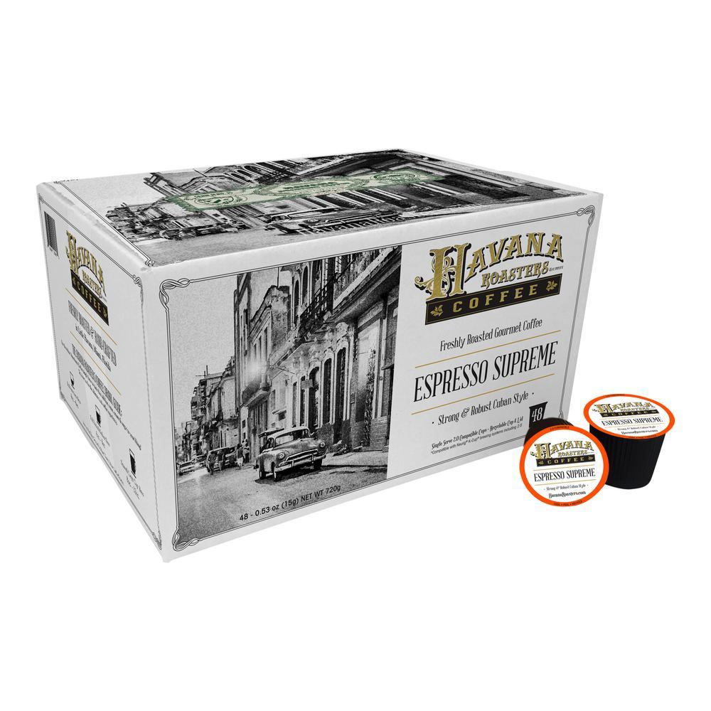 Espresso Supreme 48 K-Cups Coffee (1-Box)