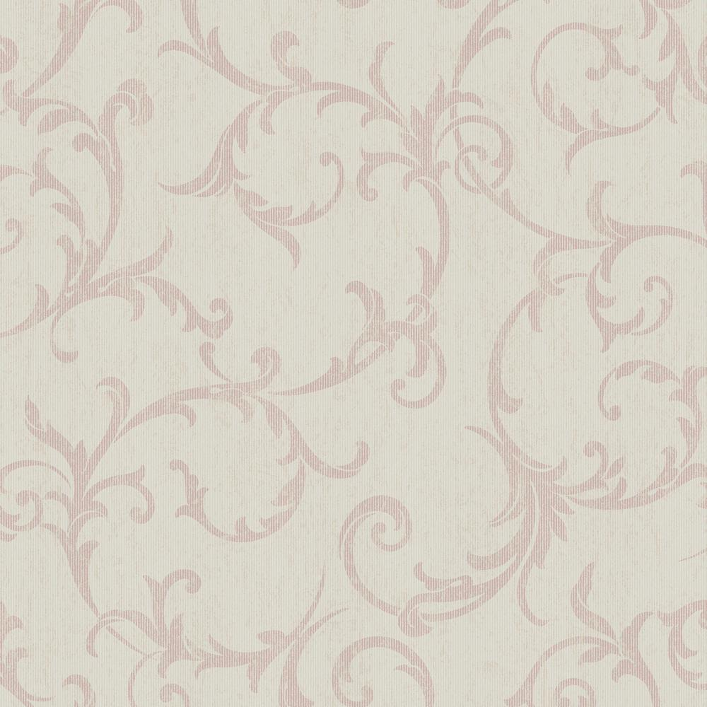 Empress Scroll Rose Gold Removable Wallpaper