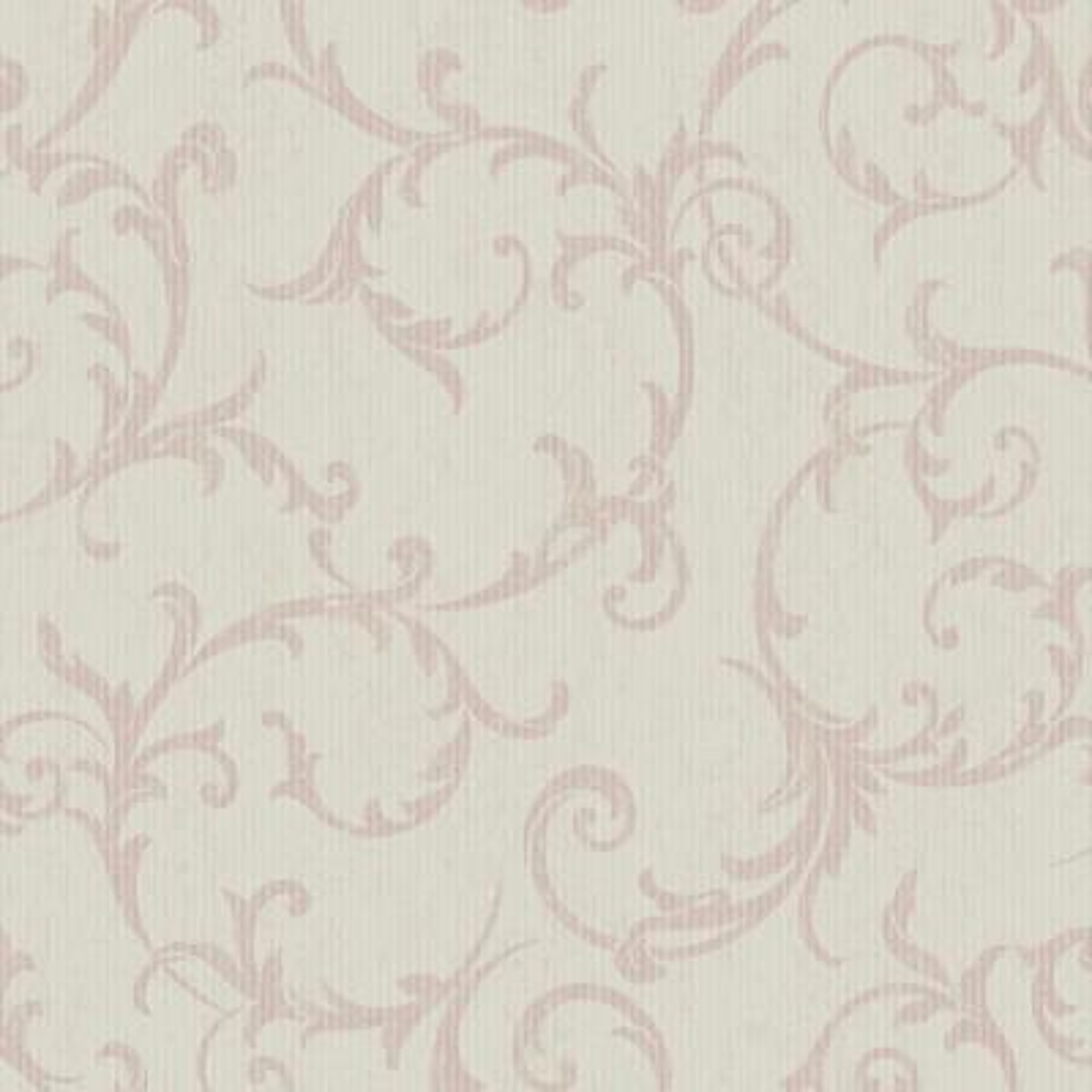 Empress Scroll Rose Gold Removable Wallpaper Sample