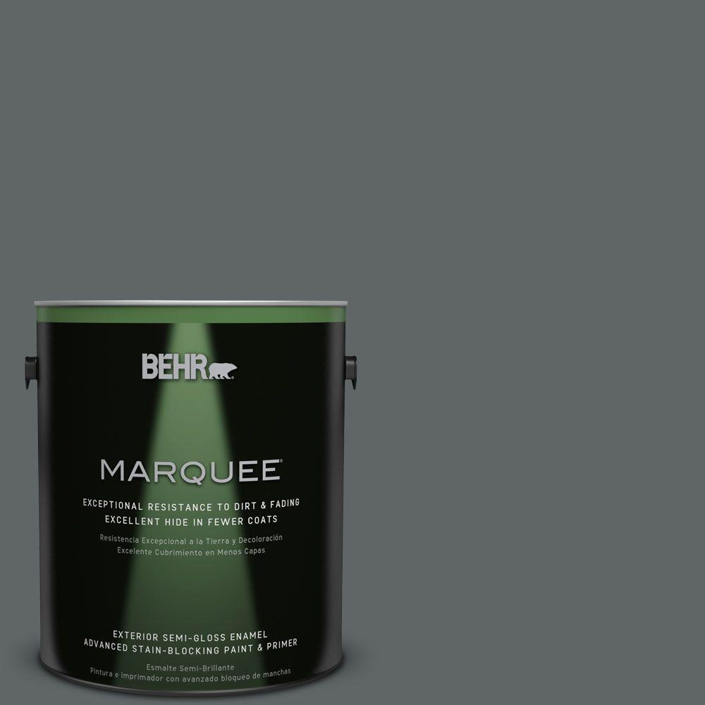 BEHR MARQUEE Home Decorators Collection 1-gal. #HDC-MD-28 Cordite Semi-Gloss Enamel Exterior Paint