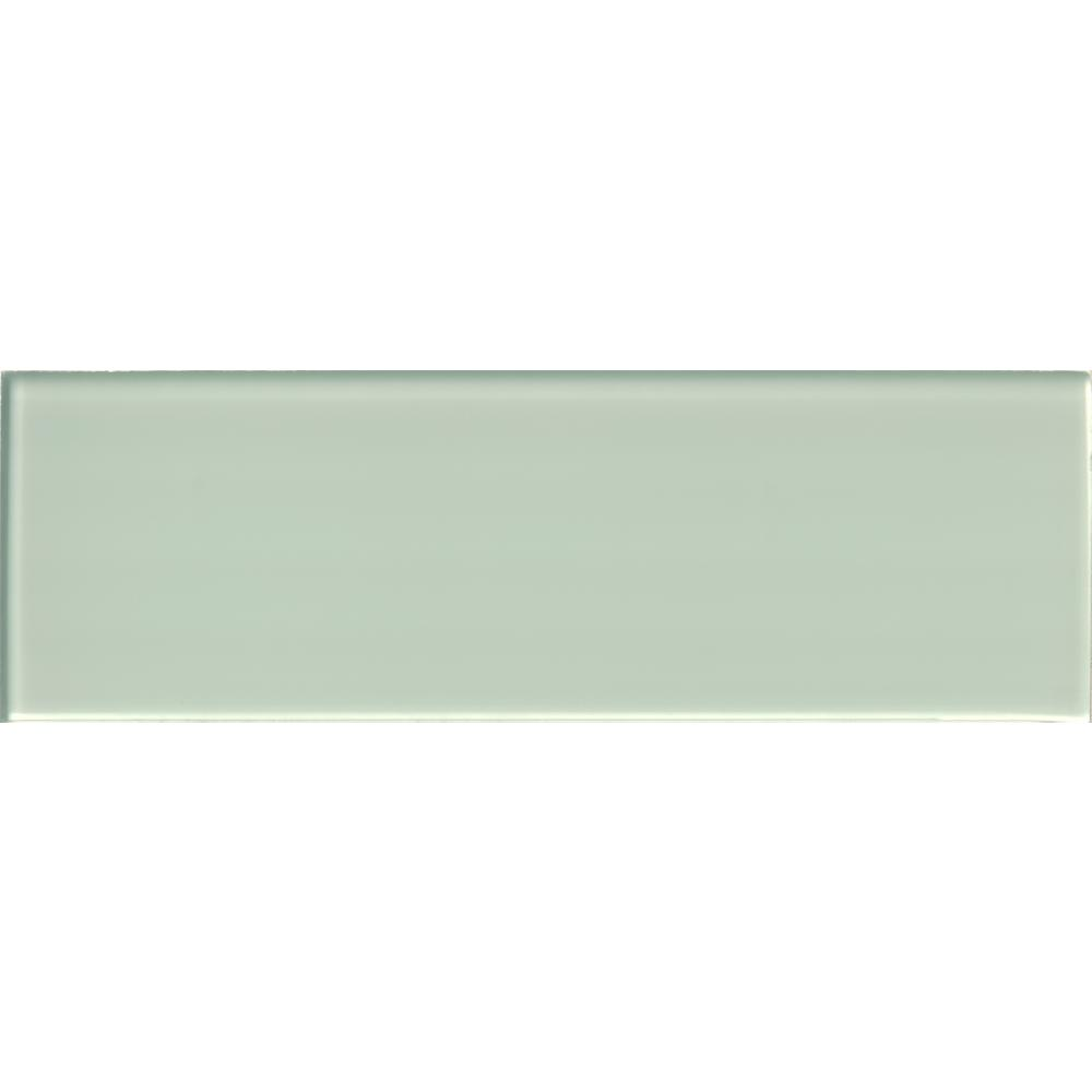 Arctic Ice 4 in. x 12 in. Glass Wall Tile (5