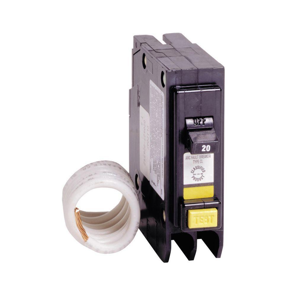 Eaton 20 Amp 1 in. Single-Pole Arc Fault Type CL Circuit Breaker