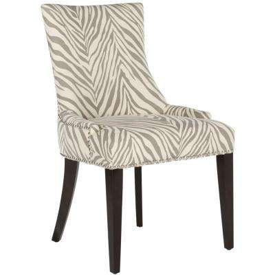 Becca Grey Zebra Cotton/Linen Dining Chair