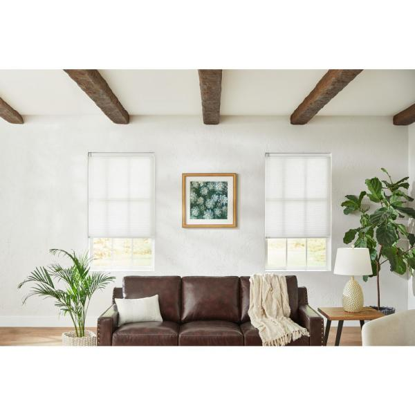 White Cordless Light Filtering Cellular Shade - 72 in. W x 48 in. L (Motorization Compatible)