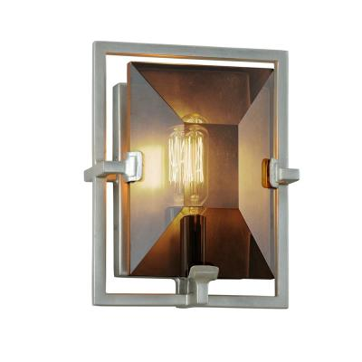 Prism 1-Light Silver Leaf Wall Sconce with Smoke Shade