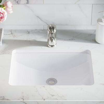 20-3/4 in. Undermount Bathroom Sink in White with White SinkLink