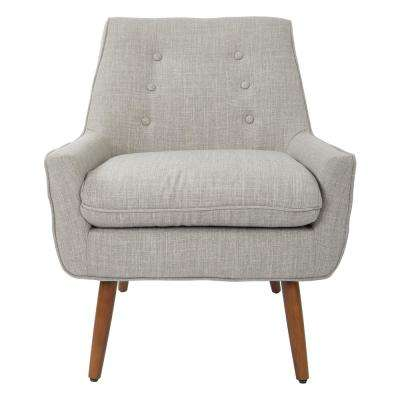 Rhodes Dove Fabric Chair with Coffee Legs