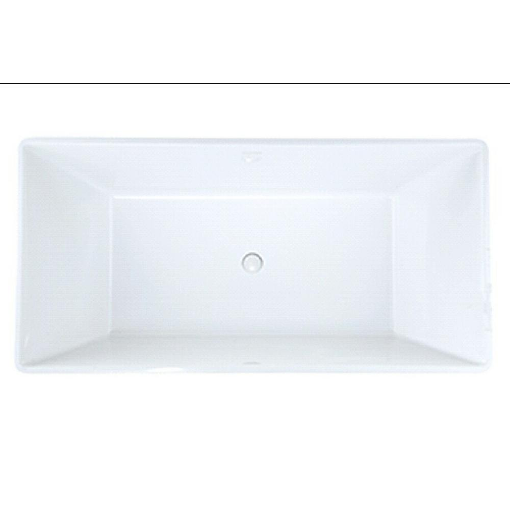 Bellevue 5 ft. Solid Surface Flat Bottom Whirlpool Freestanding Air Bath