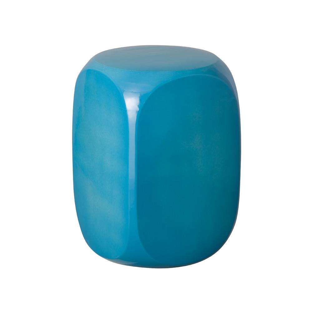 Emissary Turquoise Dice Ceramic Garden Stool 1265tq The