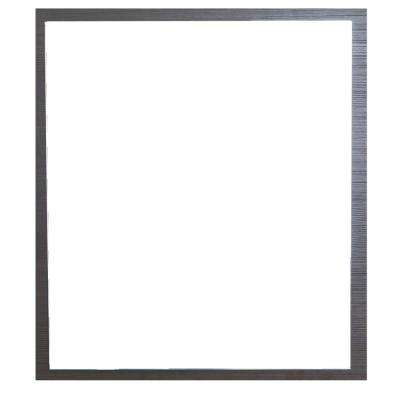 Reflection 24 in. W x 26.77 in. Framed Wall Mounted Vanity Bathroom Mirror in Wenge