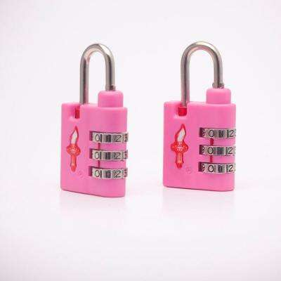Aero Light Weight 3 Dial TSA Combination Lock Double Pack in Bubble Gum Pink