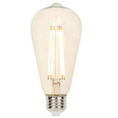 60-Watt Equivalent Clear ST20 Dimmable Filament LED Light Bulb, Soft White