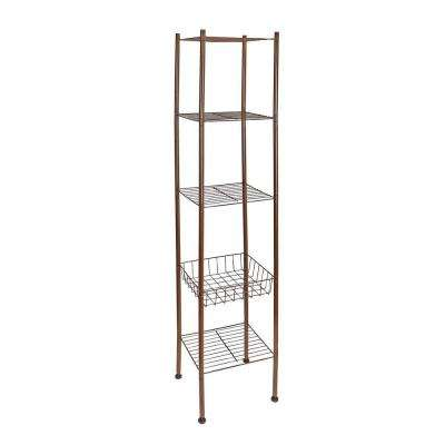 13 in. 5-Tier Bathroom Space Saver in Oil-Rubbed Bronze