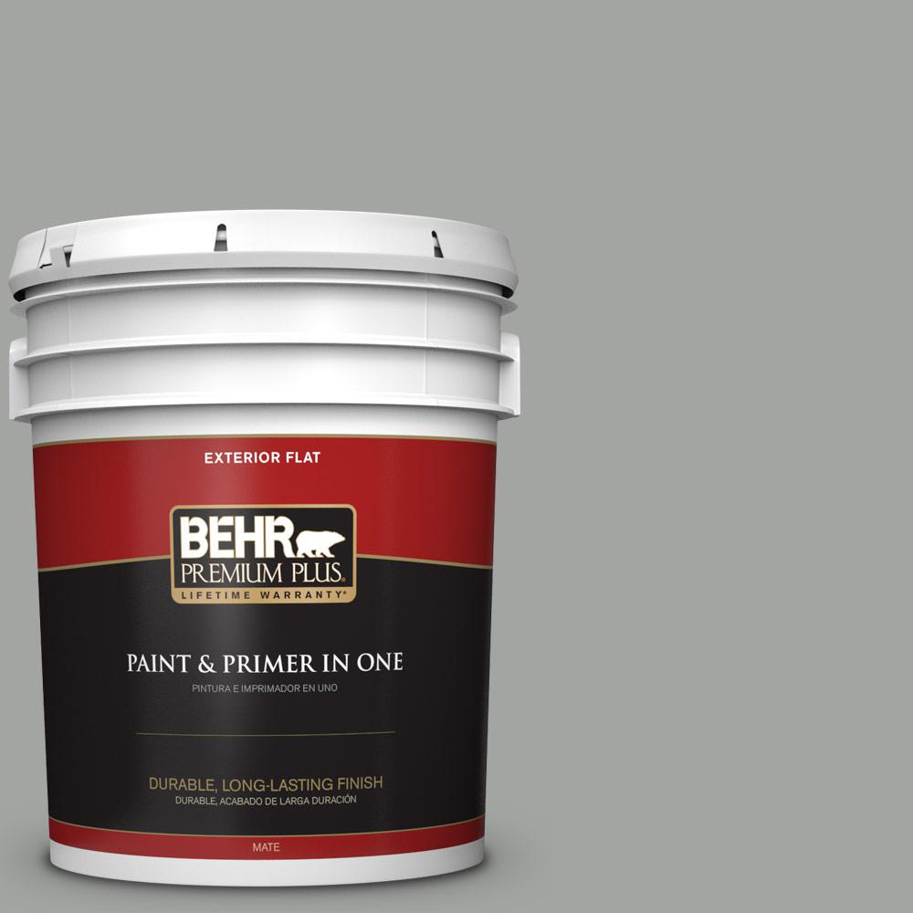 5 gal. #PPU24-18 Great Graphite Flat Exterior Paint