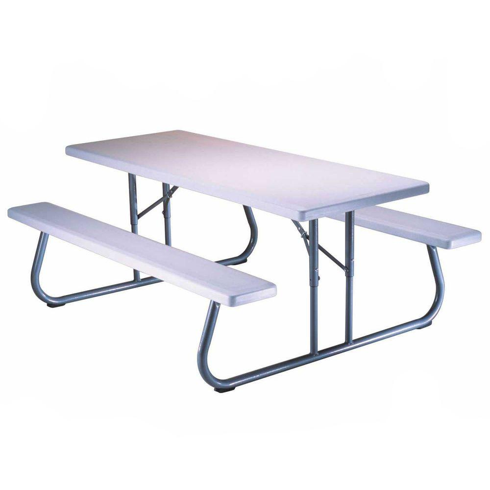 Lifetime 57 in. x 72 in. Folding Picnic Table