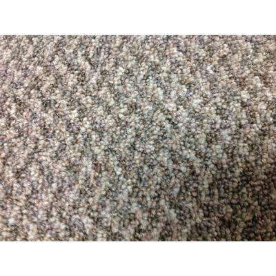 Illusions - Color Brown Sugar Graphic Level Loop Attached Pad 12 ft. Carpet