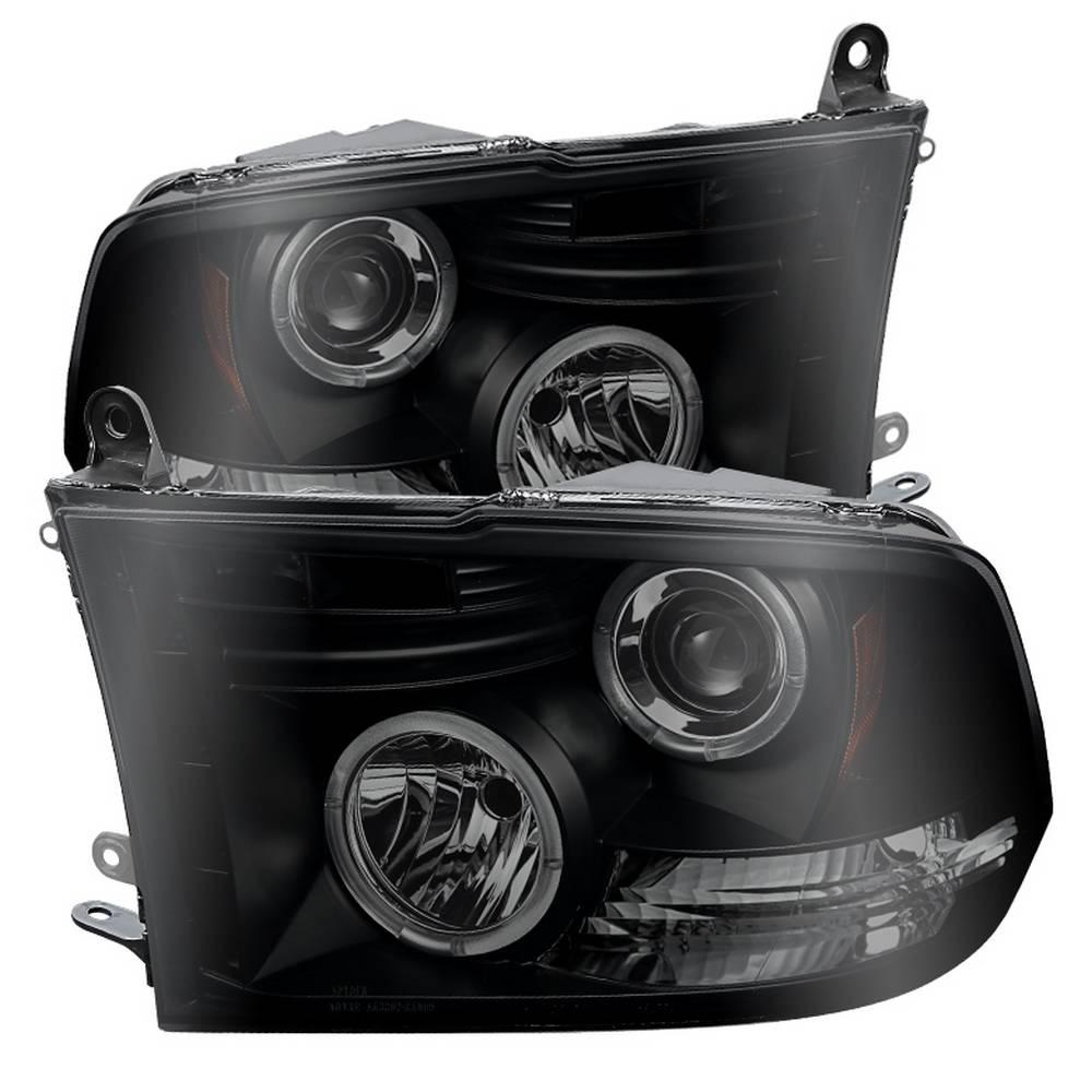 Spyder Auto Dodge Ram 1500 09 16 Ram 2500 3500 10 16 Projector Headlights Halogen Model Only Led Halo Black Smoke 5078407 The Home Depot