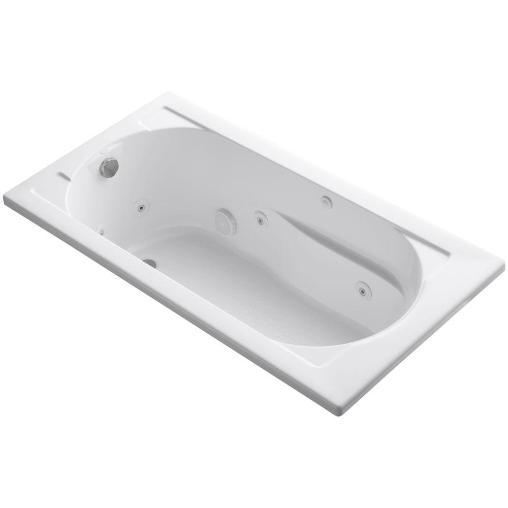 KOHLER Devonshire 5 ft. Whirlpool Tub with Reversible Drain in White ...