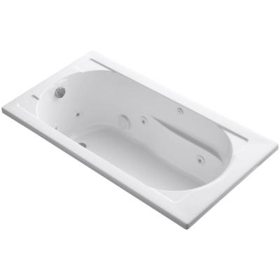 Devonshire 60 in. x 32 in. Acrylic Drop-In Whirlpool Bathtub with Reversible Drain in White