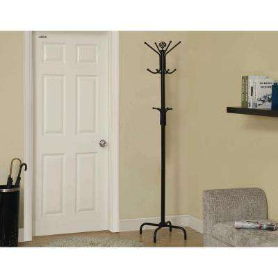 Black Coat Rack With 8- Hooks