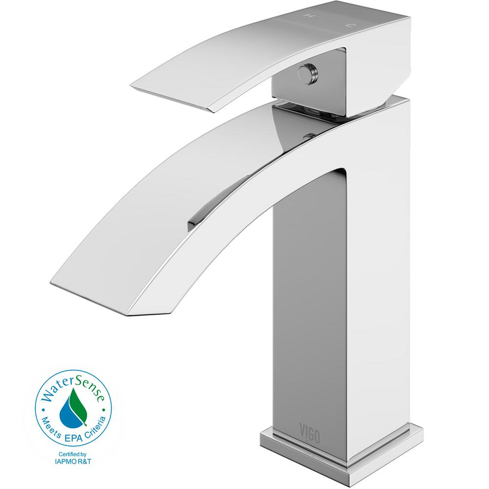vigo bathroom faucets. VIGO Single Hole Single-Handle Bathroom Faucet In Chrome Vigo Faucets