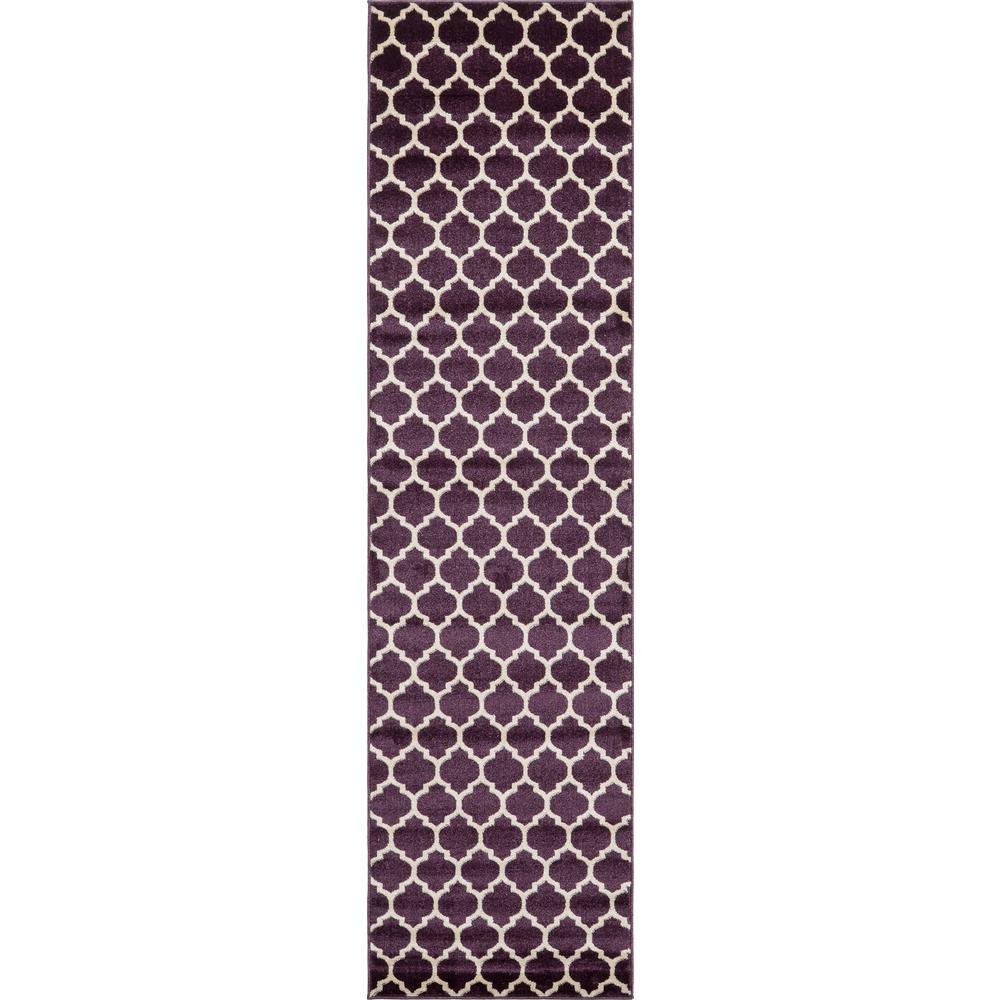 Trellis Purple 2 ft. 7 in. x 10 ft. Runner