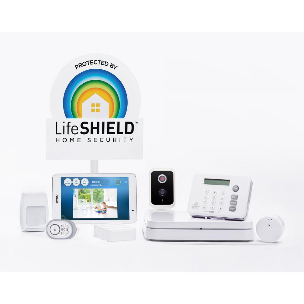 Complete Home Security Kit with One Wireless 720p Camera and Monitor