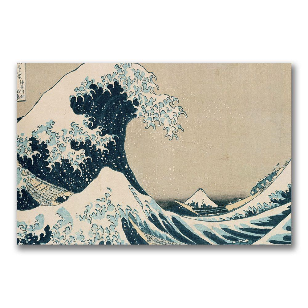 Trademark Fine Art 22 in. x 32 in. The Great Wave Canvas Art