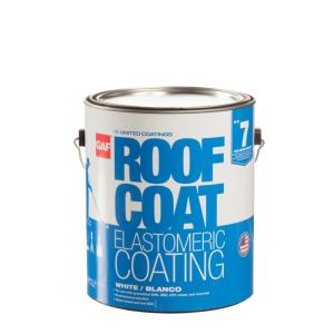 Deals on GAF 1 Gal. White Roof Coat Acrylic Reflective Roof Coa