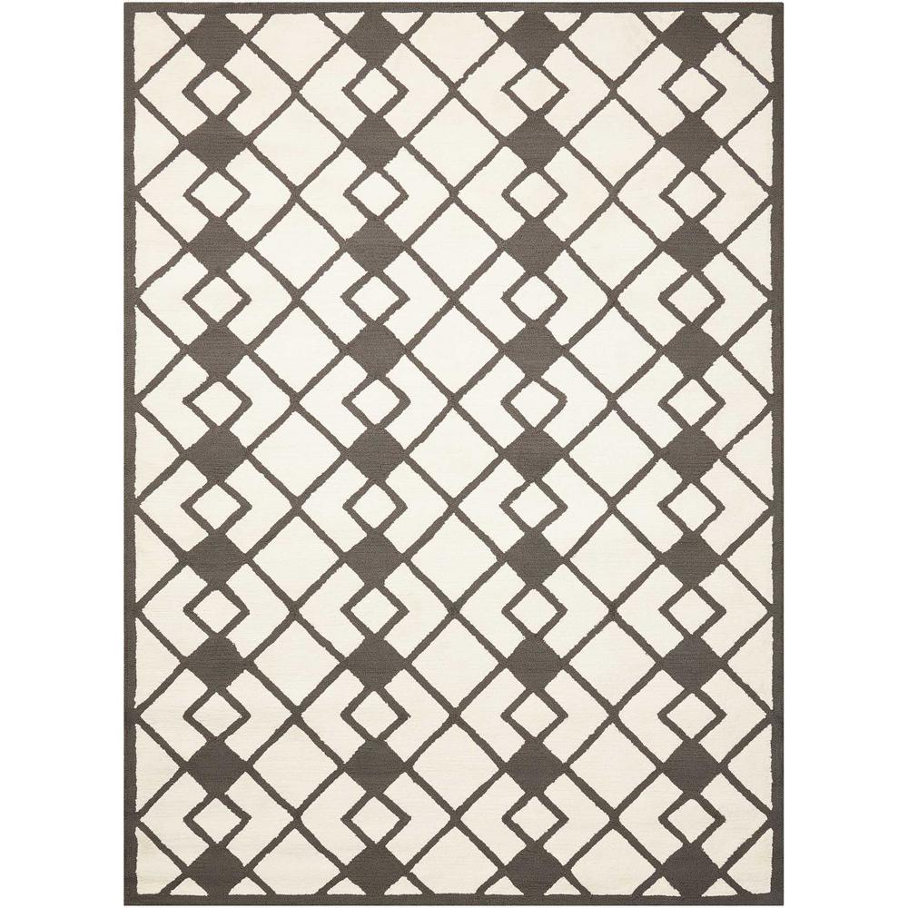 Decor Ivory/Grey 5 ft. x 7 ft. Area Rug