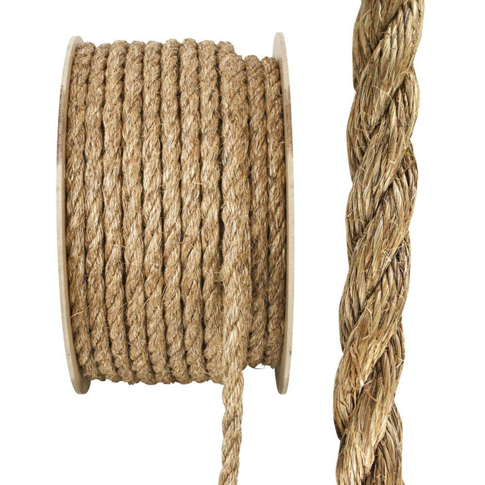Crown Bolt 1 In X 75 Ft Natural Manila Rope 64660 The
