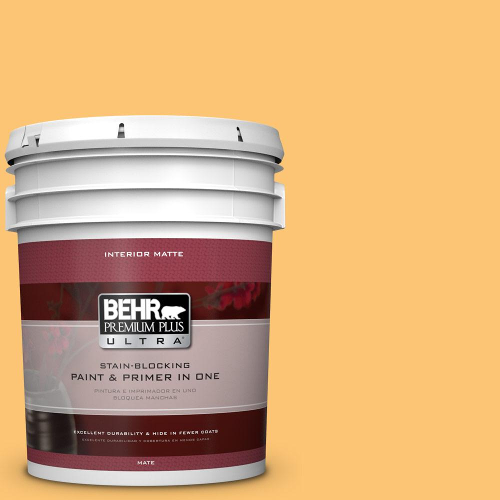 5 gal. #BIC-42 Liquid Gold Matte Interior Paint