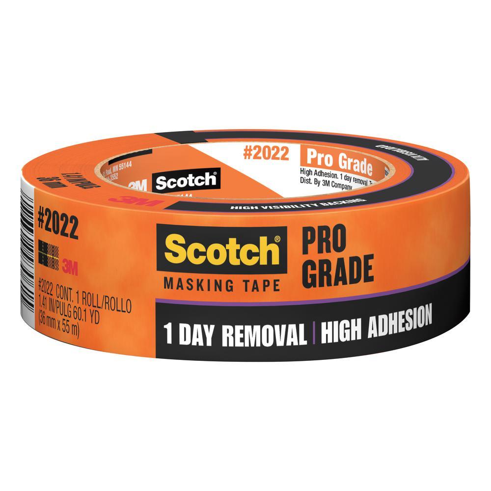 Scotch 1.41 in. x 60.1 yds. Pro Grade Masking Tape (Case of 24)
