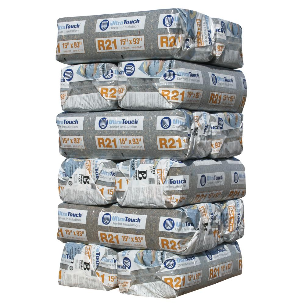 UltraTouch R-21 Denim Insulation Batts 15 in. x 93 in. (12-Bags)