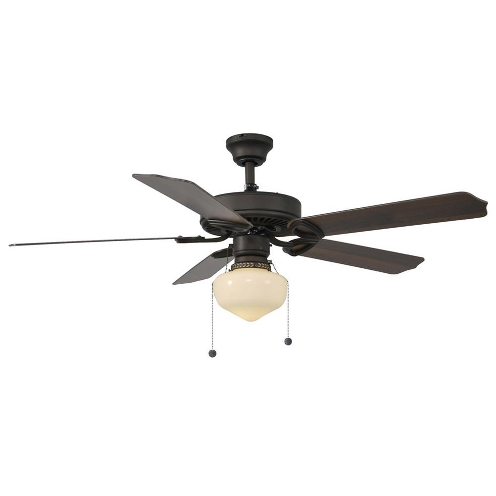 Trimount 52 in indoor white ceiling fan with light kit yg269 wh indoor oil rubbed bronze ceiling fan with light kit mozeypictures Choice Image