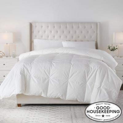 Medium Weight Down White Cotton King Comforter