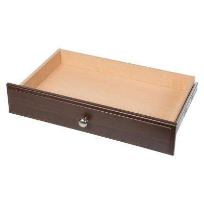 4 in. H x 24 in. W Espresso Wood Deluxe Drawer Kit