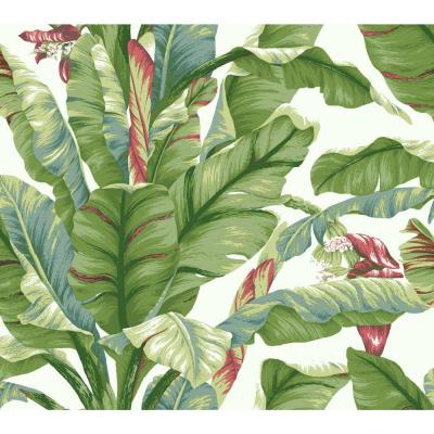 45 sq. ft. Banana Leaf Peel and Stick Wallpaper