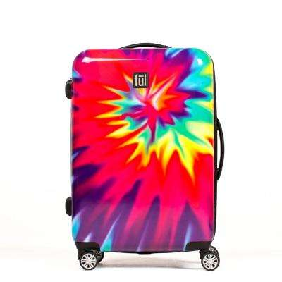 Tie-Dye Swirl 20 in. ABS Hard Case Upright Expandable Spinner Rolling Luggage Suitcase