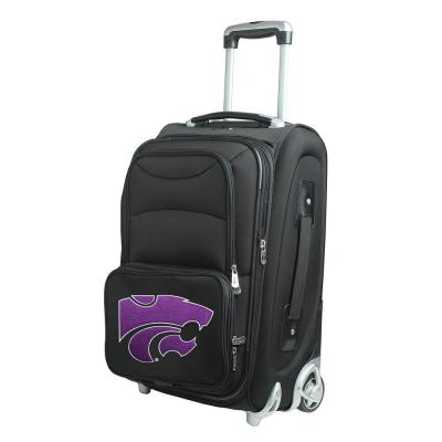 Denco NCAA Kansas State 21 in. Black Carry-On Rolling Softside Suitcase