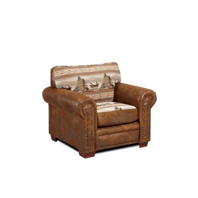 Alpine Lodge Tapestry Rustic Upholstered Chair