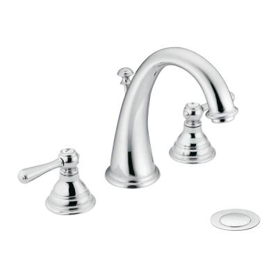 Kingsley 8 in. Widespread 2-Handle High-Arc Bathroom Faucet Trim Kit in Chrome (Valve Not Included)