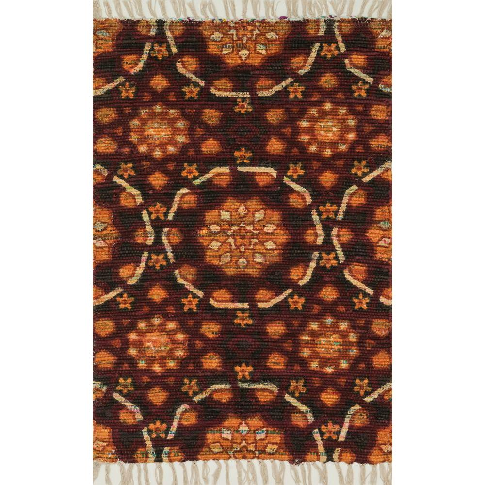 Loloi Rugs Aria Lifestyle Collection Spice 1 ft. 9 in. x 5 ft. Area Rug