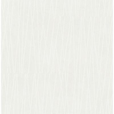 Gidget Lines Off-White and Gray Wallpaper